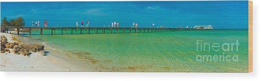 Anna Maria Island Historic City Pier Panorama Wood Print
