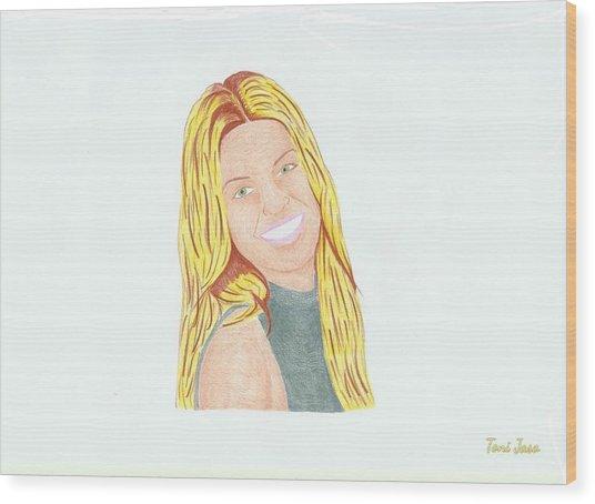 Annalynne Mccord Wood Print
