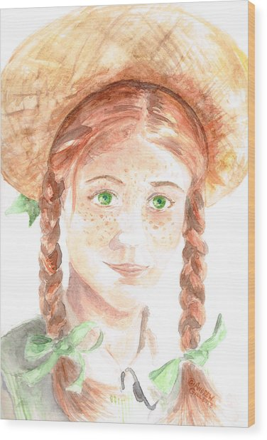 Anne Of Green Gables Wood Print