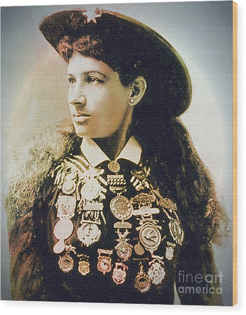 Annie Oakley - Shooting Legend Wood Print