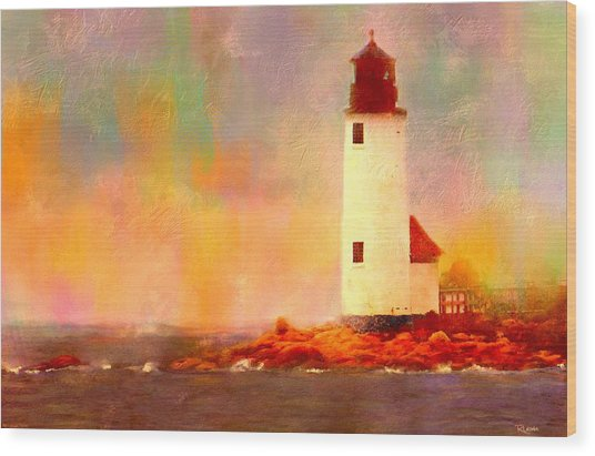 Annisquam Rainbow Wood Print