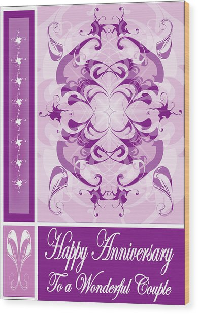 Anniversary Card 1 Wood Print by George Pasini