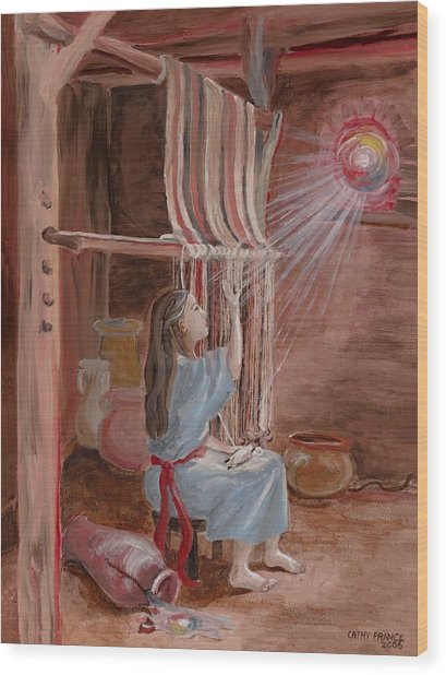 Annunciation To Mary Wood Print by Cathy France