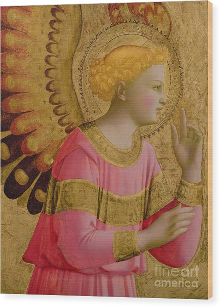 Annunciatory Angel Wood Print