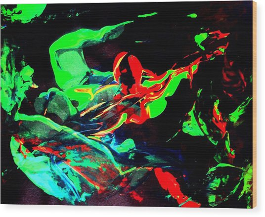 Another Combatant Wood Print by Bruce Combs - REACH BEYOND