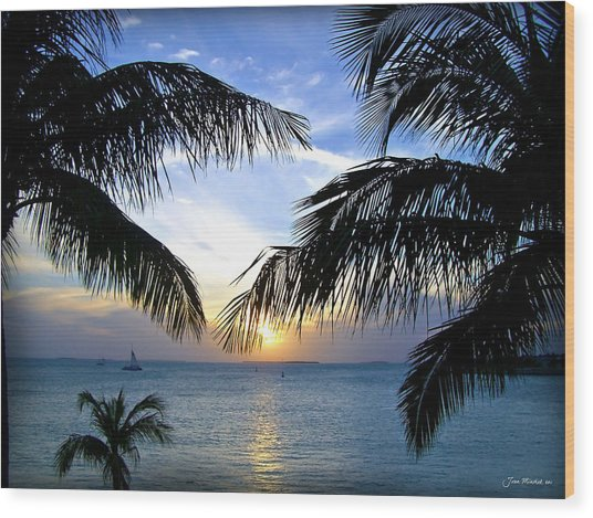 Another Key West Sunset Wood Print
