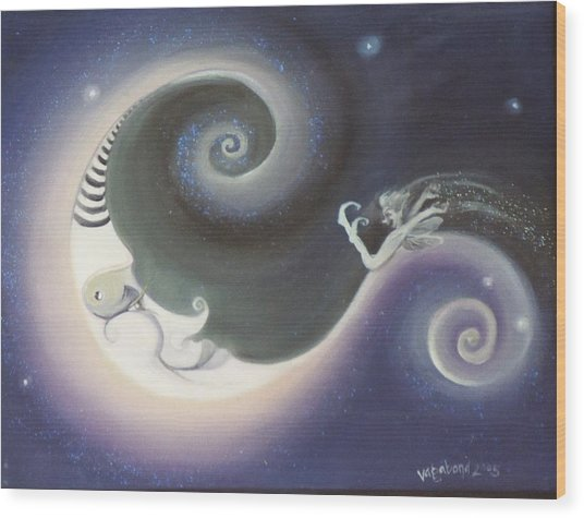 Another Moon Painting Vagabond 2005 Wood Print