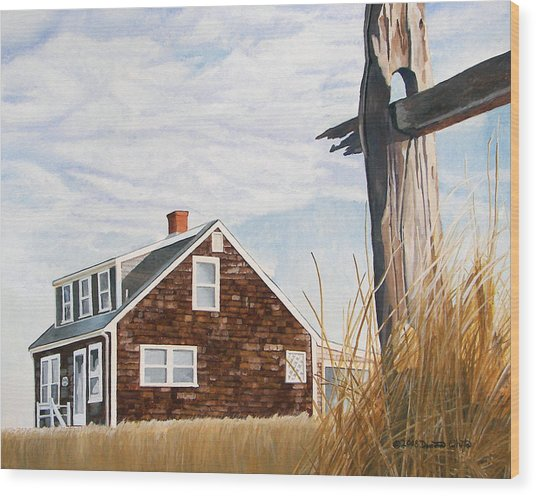Wood Print featuring the painting Another New England Sunrise by Dominic White