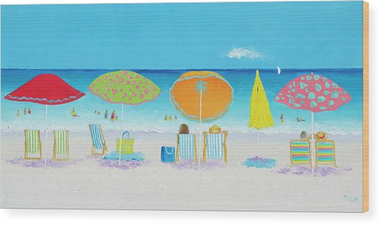 Another Perfect Beach Day Wood Print