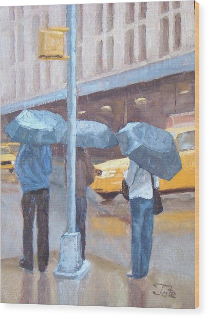 Another Rainy Day Wood Print by Tate Hamilton