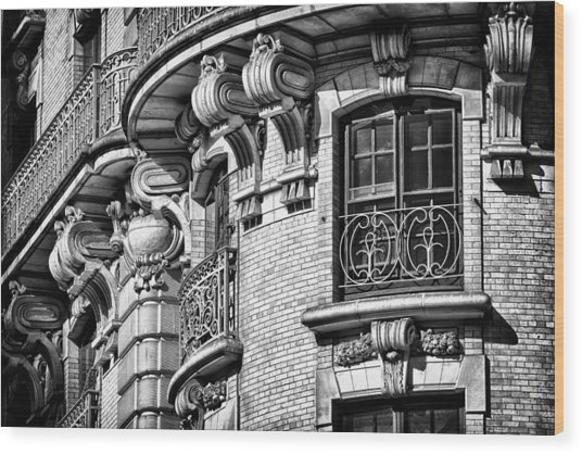 Ansonia Building Detail 36 Wood Print