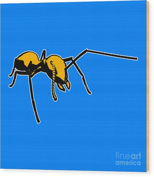Ant Graphic  Wood Print