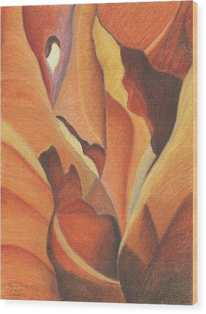 Antelope Canyon 4 - For Gloria Wood Print