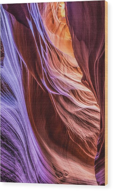 Antelope Canyon Air Glow Wood Print