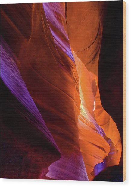 Antelope Canyon Color Wood Print