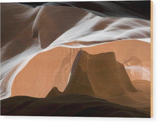 Antelope Canyon Desert Abstract Wood Print