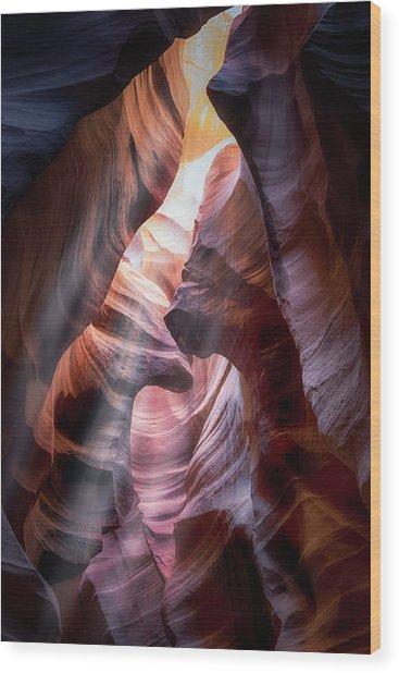 Antelope Canyon Pt2 Wood Print