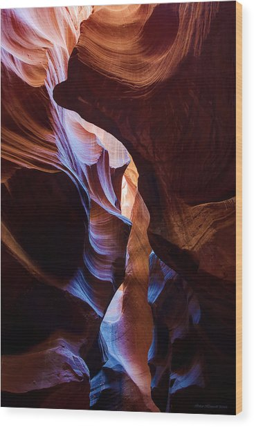 Antelope Canyon Squeeze Wood Print