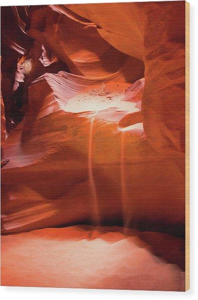 Antelope Canyon - The Falls Wood Print