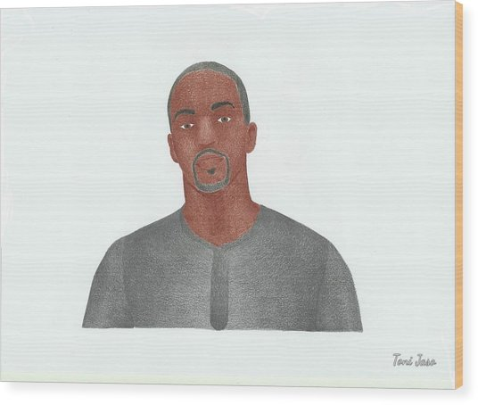 Anthony Mackie Wood Print