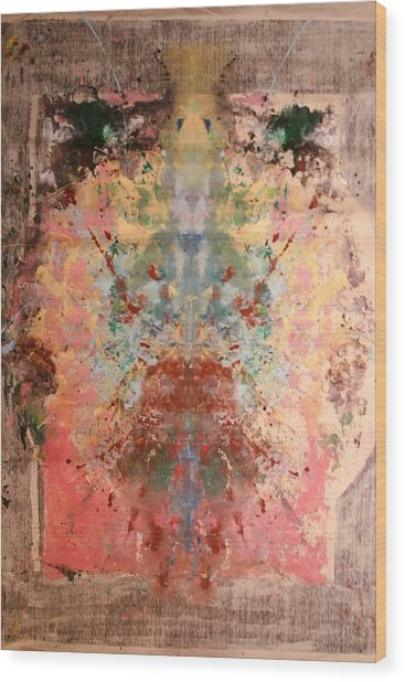 Anthropomorphic Deity Wood Print by Brian c Baker