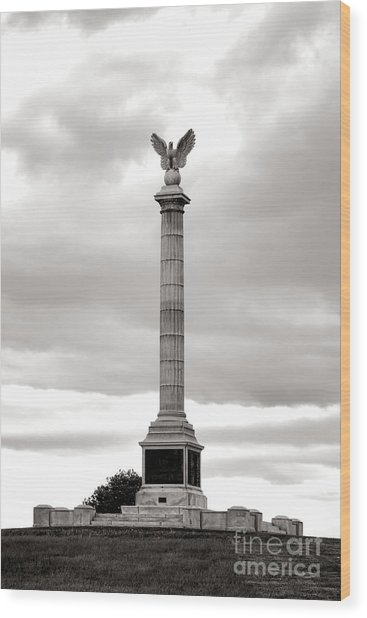 Antietam National Battlefield New York State Monument Wood Print