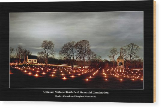 Antietam Panorama Wood Print