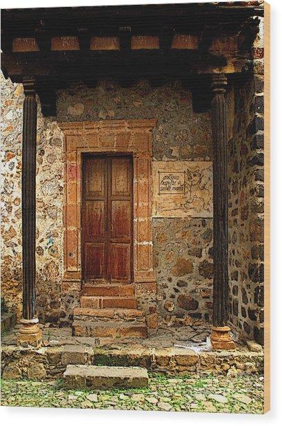 Antiguo Hospital De Santa Maria Wood Print by Mexicolors Art Photography