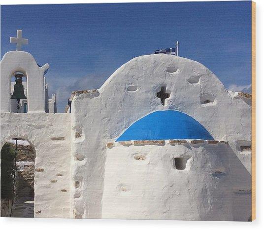 Antiparos Island Greece  Wood Print