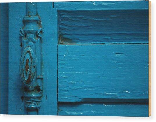 Antique Doorknob Wood Print