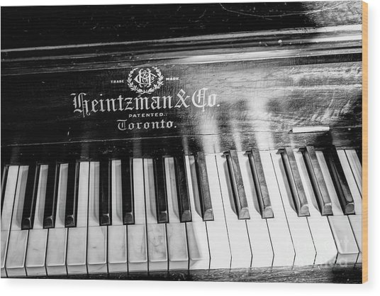 Wood Print featuring the photograph Antique Keys by Brad Allen Fine Art