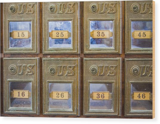Antique Mailbox Color Wood Print