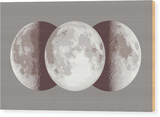 Antique Moon Wood Print