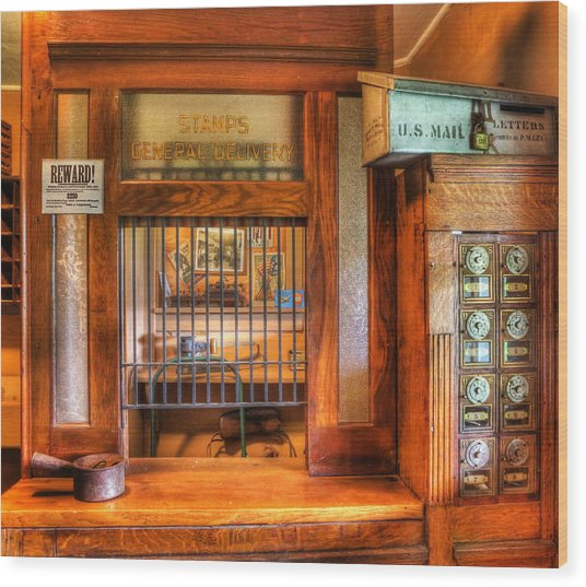 Antique Post Office At The General Store -  Wood Print