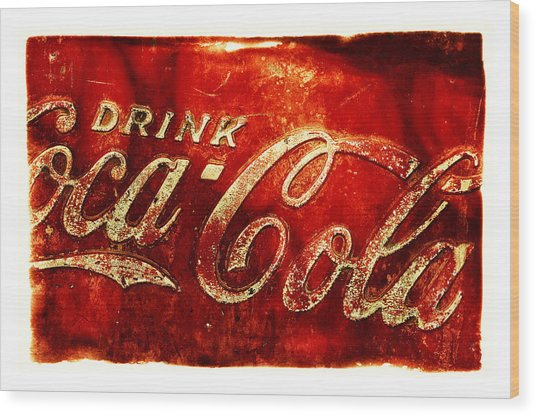 Antique Soda Cooler 2a Wood Print
