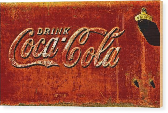 Antique Soda Cooler 3 Wood Print