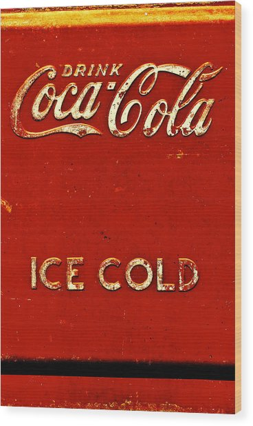 Antique Soda Cooler 6 Wood Print