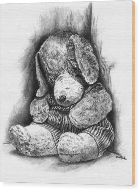 Antique Stuffed Animal Wood Print