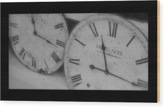 Antique Time Wood Print