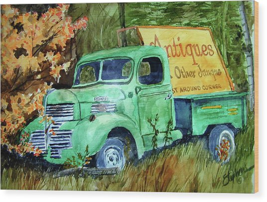 Antiques And Other Junque Wood Print