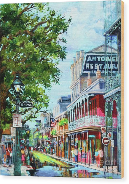 Antoine's Wood Print