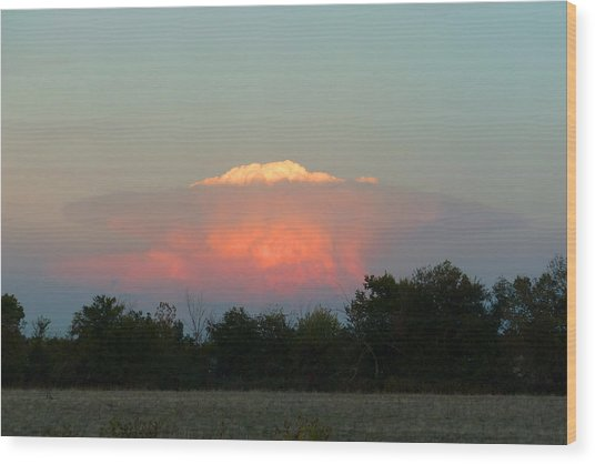 Anvil Cloud Over Kirksville, Mo Wood Print