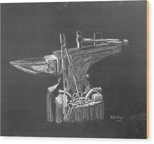Anvil Wood Print