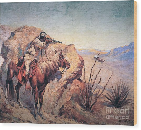 Apache Ambush Wood Print