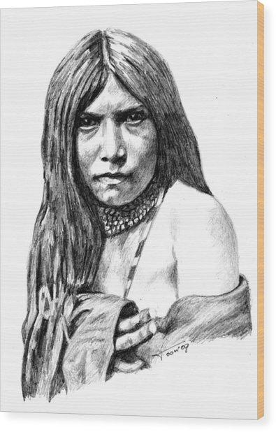 Apache Girl Zosh Clishn Wood Print
