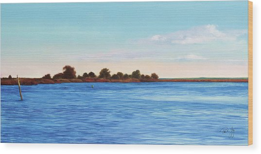 Apalachicola Bay Autumn Morning Wood Print