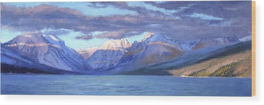 Apgar Winter Panorama Wood Print by Jeff Troupe