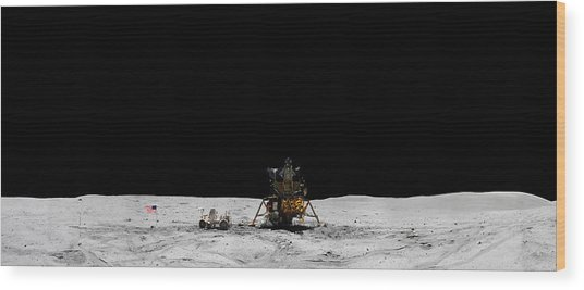 Apollo 16 Landing Site Panorama Wood Print