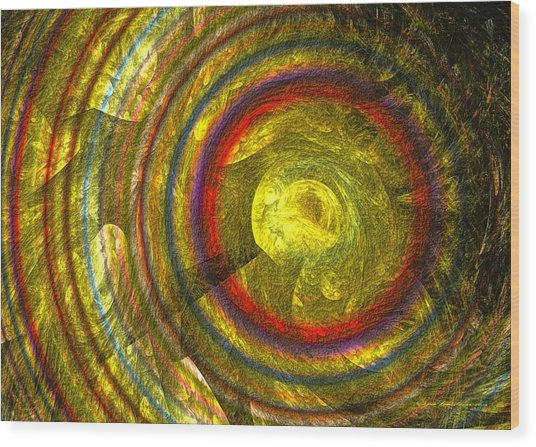 Wood Print featuring the digital art Apollo - Abstract Art by Sipo Liimatainen