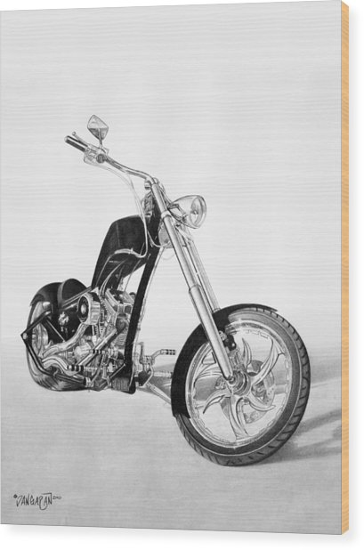 Apollo Chopper Wood Print